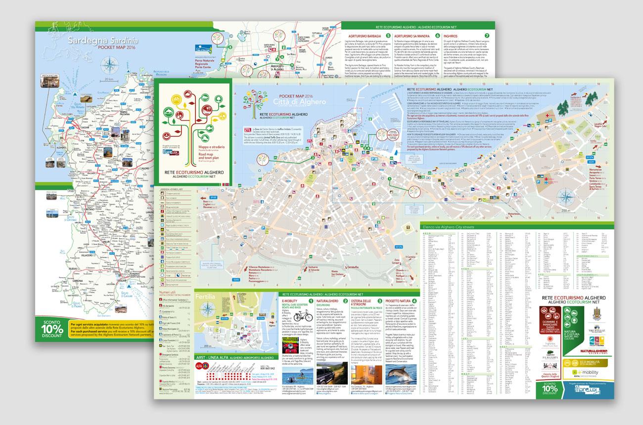 Cartina Sardegna 2017.Cartina Con Stradario Fcc Grafica Pubblicitaria Alghero Siti Web
